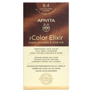 Apivita My Color Elixir Βαφή Μαλλιών 8.4 Ξανθό Ανοιχτό Χάλκινο