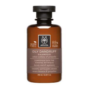 Apivita Oily Dandruff Shampoo Σαμπουάν Κατά Της Λιπαρής Πιτυρίδας 250ML