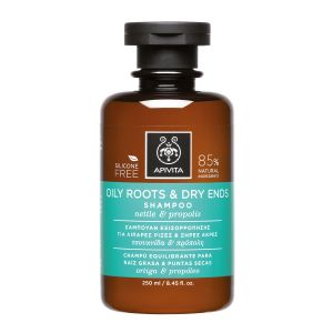 Apivita Oily Roots & Dry Ends Shampoo Σαμπουάν Εξισορρόπησης Για Λιπαρές Ρίζες & Ξηρές Άκρες με Τσουκνίδα & Πρόπολη 250ml