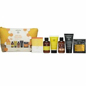 Apivita Πακέτο Promo Set Mini Bee Treasures Σετ Σαμπουάν Καθημερινής Χρήσης 75ml & Κρέμα Μαλλιών & Royal Honey Aφρόλουτρο Με Aιθέρια Έλαια75ml & Black Detox Μαύρο Gel Καθαρισμού 50ml & Μάσκα Προσώπου Κολοκύθα Για Αποτοξίνωση 2x8ml