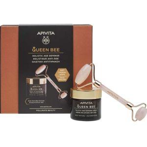 Apivita Πακέτο Promo Set Queen Bee Σετ Kρέμα Ημέρας Ολιστικής Αντιγήρανσης Πλούσιας Υφής 50ml & Δώρο Premium Face Roller Για Μασάζ Προσώπου