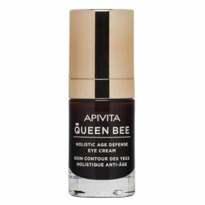 Apivita Queen Bee Κρέμα Ματιών Ολιστικής Αντιγήρανσης Με Ελληνικό Βασιλικό Πολτό Σε Λιποσώματα 15ML | Dpharmacy.gr