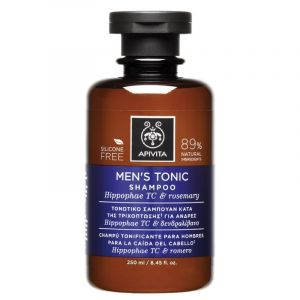 Apivita Men's Tonic Τονωτικό Σαμπουάν Για Άνδρες Κατά Της Τριχόπτωσης Με Hippophae TC & Δενδρολίβανο 75ml