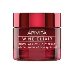 Apivita Wine Elixir Κρέμα Νύχτας Για Ανανέωση & Lifting 50ml | Dpharmacy.gr