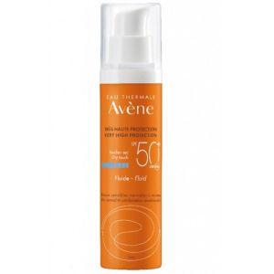 Avene Λεπτόρρευστη Αντιηλιακή Προσώπου Για Κανονικό Μικτό Δέρμα SPF50+ 50ml