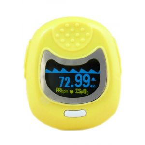 Contec Pulse Oximeter Cms50Qb Οξύμετρο Δακτύλου Παιδικό Σε Κίτρινο Χρώμα 1τμχ