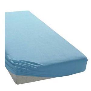 Bassetti Σεντόνι Για Μονό Κρεβάτι 100% Βαμβακερό Μπλε Ανοιχτό 100x200 1τμχ.