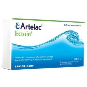 Bausch+Lomb Artelac Ectoin Οφθαλμικές Σταγόνες Για Την Επιπεφυκίτιδα 20x0,5 ml Αμπούλες | Dpharmacy.gr