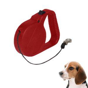 Benson Αυτόματο Λουρί Σκύλου Κόκκινο 8 Μέτρων 1Τμχ