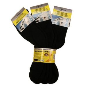 Benson Thermal Μαύρες Θερμαντικές Κάλτσες 3 Ζευγάρια Μέγεθος 39-42
