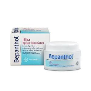 Bepanthol Ultra Κρέμα Προσώπου Για Ανάπλαση & Θρέψη 50ml