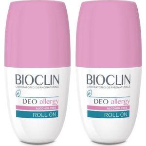 Bioclin Deo Allergy Alcohol Free Roll-On Αποσμητικό Για Ευαίσθητες Επιδερμίδες με Τάση Αλλεργίας 1+1 Δώρο 2x50ml