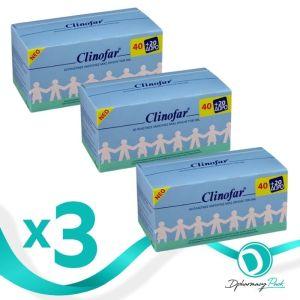 Clinofar Πακέτο Promo Set Αποστειρωμένος Φυσιολογικός Ορός Σετ Τρία Πακέτα Προσφοράς 3x60x5ml