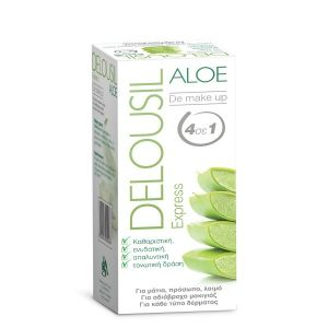 Delousil Aloe Express De Make Up Μαντηλάκια Καθαρισμού & Ντεμακιγιάζ 12τμχ