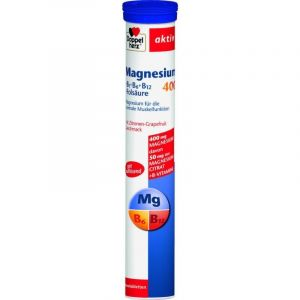 Doppelherz Magnesium Μαγνήσιο 400 +Β6+Β12+Φολικό Οξύ 15 Αναβράζοντα Δισκία