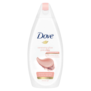 Dove Renewing Glow Pink Clay Απαλό Αφρόλουτρο 500ml