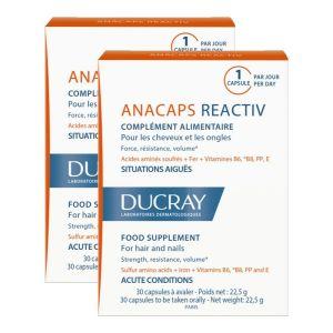Ducray Anacaps Reactiv Promo Pack Κατά Της Αντιδραστικής Τριχόπτωσης 2x30caps