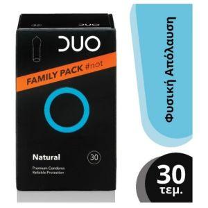 Duo Νatural Family Pack Premium Condoms Προφυλακτικά Για Φυσική Απόλαυση 30τμχ