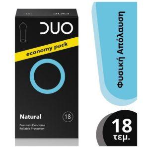 Duo Νatural Προφυλακτικά Οικονομική Συσκευασία 18 τμχ