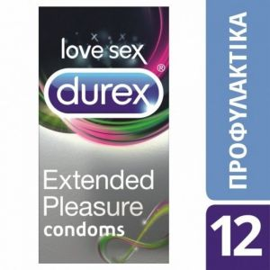 Durex Extended Pleasure Προφυλακτικά Που Παρατείνουν Την Απόλαυση 12τμχ