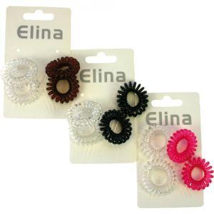 Elina Σπιράλ Λαστιχάκια Για Τα Μαλλιά 3cm 4τμχ