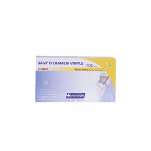 Euromedis Εξεταστικά Γάντια Βινυλίου Με Πούδρα Large 100τμχ