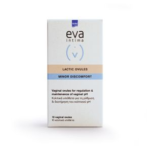Eva Intima Lactic Vaginal Ovules 10 Κολπικά Υπόθετα