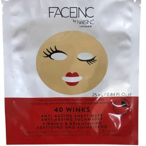 Faceinc Αντιγηραντική Μάσκα Προσώπου 40 Φύλλων 1τμχ