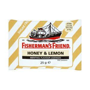 Fisherman's Friend Καραμέλες Με Γεύση Μέλι & Λεμόνι Χωρίς Ζάχαρη 25G