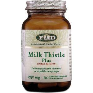 Flora Milk Thistle Plus Σκεύασμα με Γαϊδουράγκαθο για Αποτοξίνωση κ Προστασία των Κυττάρων 60 Κάψουλες