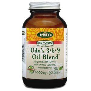 Flora Udo's Oil Omega 3 6 9 1000mg Ωμέγα 3 6 9 Για Το Καρδιαγγειακό Σύστημα 90 Φυτικές Κάψουλες
