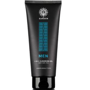 Garden Men 3 In 1 Cleansing Gel Καθαρισμού Για Πρόσωπο, Σώμα & Μαλλιά 200ml