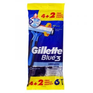 Gillette Blue 3 Smooth Ξυραφάκια Μίας Χρήσης 4+2 Δώρο