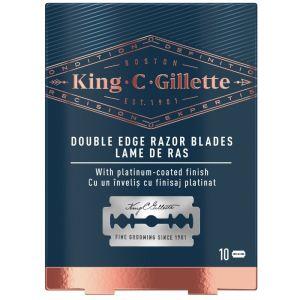 King C. Gillette Ξυράφια Διπλής Ακμής - Ανταλλακτικά 10τμχ