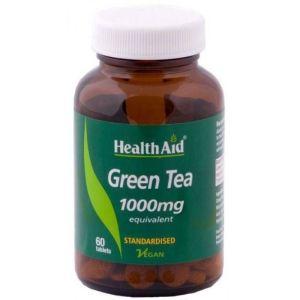 Health Aid Green Tea 1000mg Συμπλήρωμα Διατροφής Με Πράσινο Τσάι Για Αποτοξίνωση 60 Tαμπλέτες