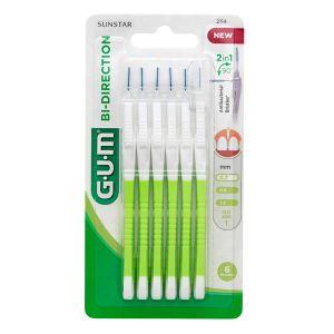 Gum Bi-Direction Μεσοδόντια Βουρτσάκια Λαχανί 0.7mm 6τμχ