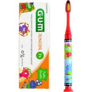 Gum Promo Set Πακέτο Junior Παιδική Οδοντόκρεμα (7+ Ετών) 50ml & ΔΩΡΟ Light-up Φωτιζόμενη Οδοντόβουρτσα Σε Κόκκινο Χρώμα