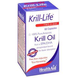 Health Aid Krill Life Krill Oil 500mg Ωμέγα 3 Λιπαρά Οξέα Για Υγιή Καρδιά & Καλή Εγκεφαλική Λειτουργία 60 Κάψουλες