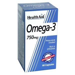 Health Aid Omega 3 750mg Ιχθυέλαιο Ωμέγα 3 Για Την Καρδιά & Το Κυκλοφορικό 60 Κάψουλες