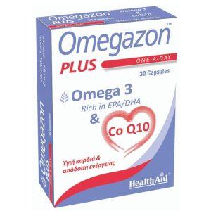 Health Aid Omegazon Plus Omega 3 & Co Q10 Συμπλήρωμα Διατροφής Για Υγιή Καρδιά & Απελευθέρωση Ενέργειας 30 Caps