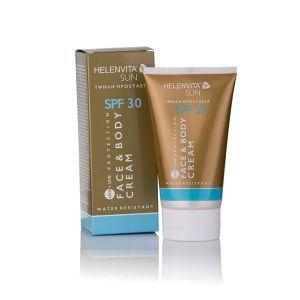 Helenvita Sun Spf 30 Αδιαβροχη Αντιηλιακη Κρεμα Προσωπου & Σωματος Υψηλης Προστασιας  150 ml