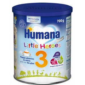 Humana Γάλα σε Σκόνη Optimum 3 12m+ Little Heroes 700gr