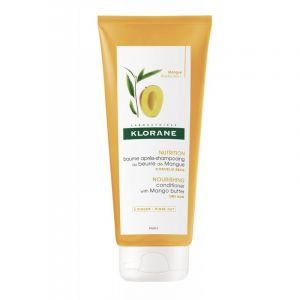 Klorane Μαλακτική Κρέμα Μαλλιών Με Βούτυρο Μάνγκο Για Θρέψη & Ελαστικότητα 200ml