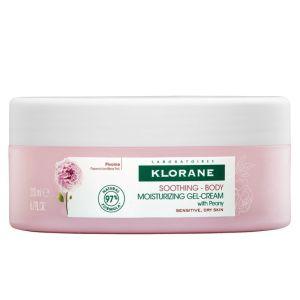 Klorane Peony Soothing Body Moisturizing Gel-Cream Ενυδατική Κρέμα Σώματος 200ml