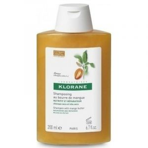 Klorane Shampoo Mangue Σαμπουάν με Βούτυρο Μάνγκο για Ξηρά Μαλλιά 200ml