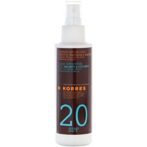 Korres Clear Spray Body Walnut & Coconut SPF20 Διάφανο Αντιηλιακό Σώματος Καρυδιά & Καρύδα 150ml