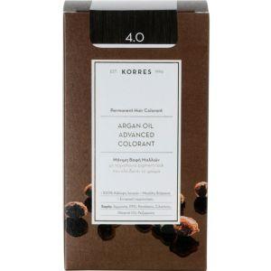 Korres Argan Oil Advanced Colorant Βαφή Μαλλιών 4.0 Καστανό 50ml