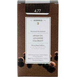 Korres Argan Oil Advanced Colorant Βαφή Μαλλιών 4.77 Σκούρο Σοκολατί 50ml