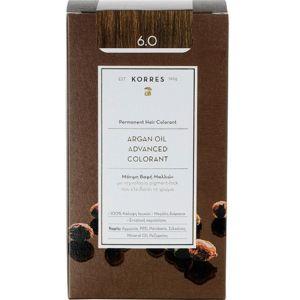 Korres Argan Oil Advanced Colorant Βαφή Μαλλιών 6.0 Ξανθό Σκούρο 50ml