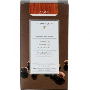 Korres Argan Oil Advanced Colorant Βαφή Μαλλιών 77.44 Ξανθό Έντονο Χάλκινο 50ml